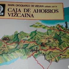 Coleccionismo Papel Varios: MAPA OROGRAFICO DE VIZCAYA, 1976. Lote 134243021