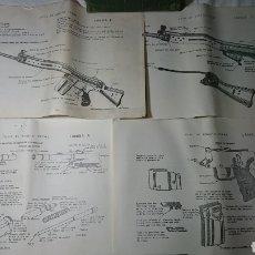Coleccionismo Papel Varios: FUSIL DE ASALTO CETME : INSTRUCCIONES + LAMINAS. Lote 134243333
