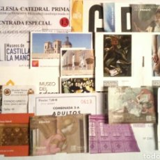 Coleccionismo Papel Varios: 34 ENTRADAS DIFERENTES USADAS DE MUSEOS DE TOLEDO Y MADRID. Lote 179400638