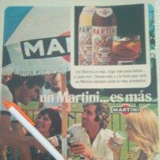 Coleccionismo Papel Varios: RECORTE PRENSA PUBLICIDAD 1975 MARTINI. Lote 135223583