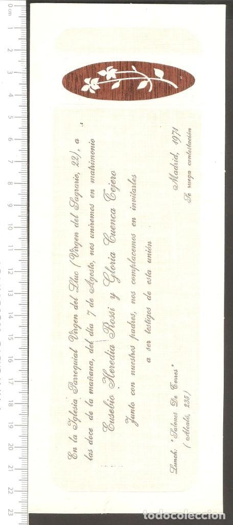 Tarjeta Invitacion Boda 1974
