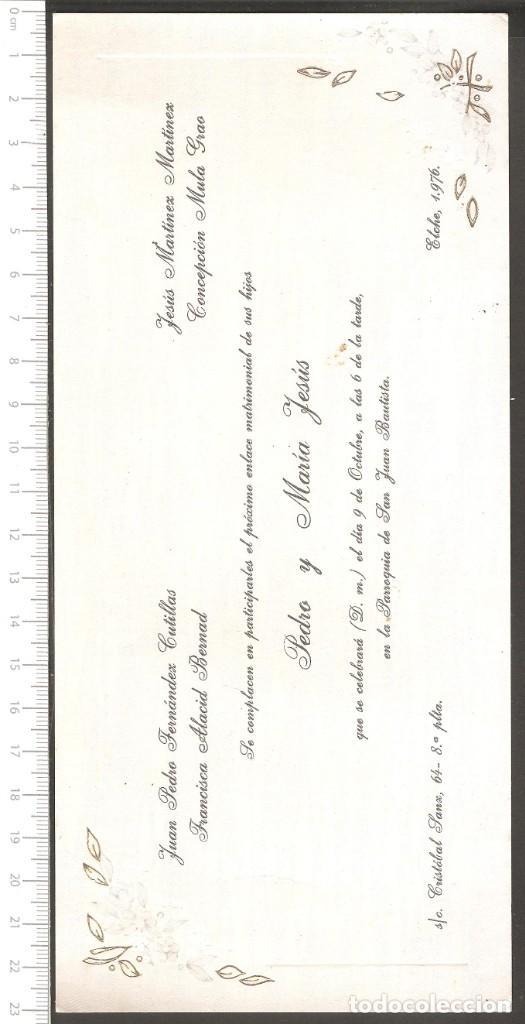 Tarjeta Invitacion Boda 1976