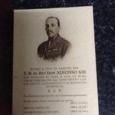 Coleccionismo Papel Varios: RECORDATORIO FALLECIMIENTO REY ALFONSO XIII. Lote 135261986