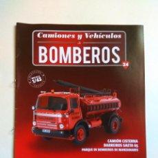 Coleccionismo Papel Varios: FASCÍCULO CAMIONES Y VEHICULOS BOMBEROS Nº 24 SALVAT BARREIROS SAETA 65. Lote 135412894