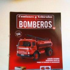 Coleccionismo Papel Varios: FASCÍCULO CAMIONES Y VEHICULOS BOMBEROS Nº 24 SALVAT BARREIROS SAETA 65. Lote 135412930