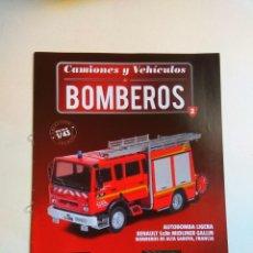 Coleccionismo Papel Varios: FASCÍCULO CAMIONES Y VEHICULOS BOMBEROS Nº 2 SALVAT RENAULT S180 MIDLINER. Lote 135413226