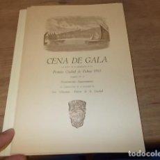 Coleccionismo Papel Varios: DÍPTICO DEL MENÚ DE LA CENA DE GALA PREMIOS CIUDAD DE PALMA 1968 REALIZADOS EN EL PUEBLO ESPAÑOL.. Lote 135486210
