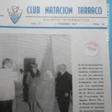 Coleccionismo Papel Varios: BOLETIN INFORMATIVO CLUB NATACION TARRACO-TARRAGONA 1967 NUM.14. Lote 135870374