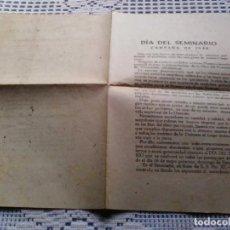 Coleccionismo Papel Varios: DÍPTICO DIA DEL SEMINARIO . LUGO 1948. Lote 136055518