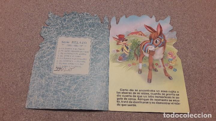 Coleccionismo Papel Varios: CUENTOS TROQUELADOS. ...EL ASNO Y EL LOBO................1984... - Foto 2 - 136204758