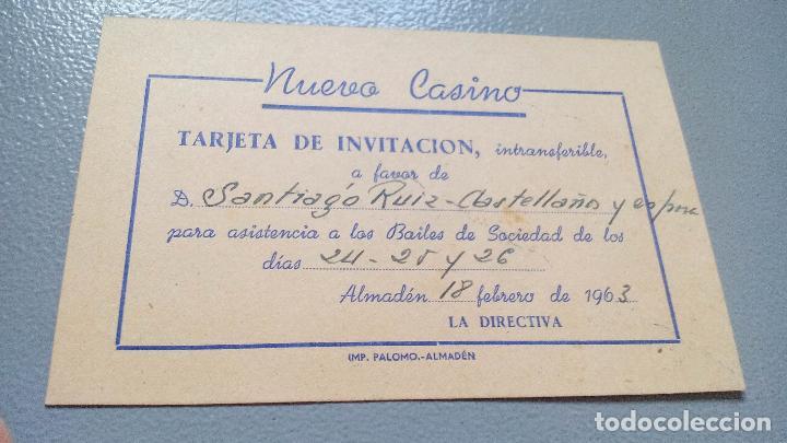 Tarjeta De Invitacion Nuevo Casino De Almaden Sold