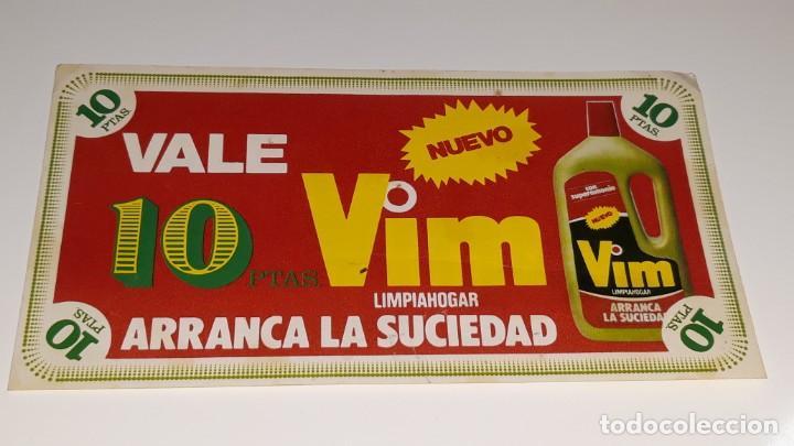 ANTIGUO CUPON VALE DESCUENTO DE VIM LIMPIAHOGAR AÑOS 80 segunda mano