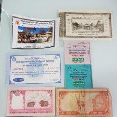 Coleccionismo Papel Varios: LOTE BILLETES Y ENTRADAS DE NEPAL. Lote 136639394