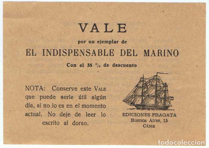 Vale por un ejemplar de El Indispensable del Marino con el 35% de descuento segunda mano