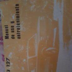 Outros artigos de papel: CL12// SEAT 127//MANUAL DE USO Y ENTRETENIMIENTO. Lote 137109273