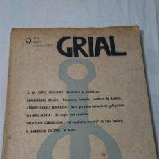 Coleccionismo Papel Varios: GRIAL N° 9 REVISTA GALEGA DE CULTURA, AÑO 1965. Lote 137210037