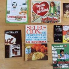 Coleccionismo Papel Varios: FOLLETOS PUBLICITARIOS VARIADOS ANTIGUOS . Lote 137336466