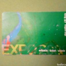 Coleccionismo Papel Varios: ENTRADA EXPO 2000 ZARAGOZA. Lote 137773066