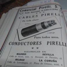 Coleccionismo Papel Varios: PIRELLI CABLES SUCURSALES MADRID SEVILLA BILBAO LA CORUÑA ORIGINAL DE EPOCA 1928. Lote 137829458