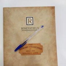 Coleccionismo Papel Varios: CATALOGO ROSENTIEL`S. Lote 138118890
