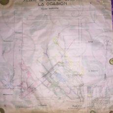Coleccionismo Papel Varios: LA UNION- CARTAGENA- MURCIA- MINERIA- PLANO DE LABORES MINA LA OCASION. Lote 138573790