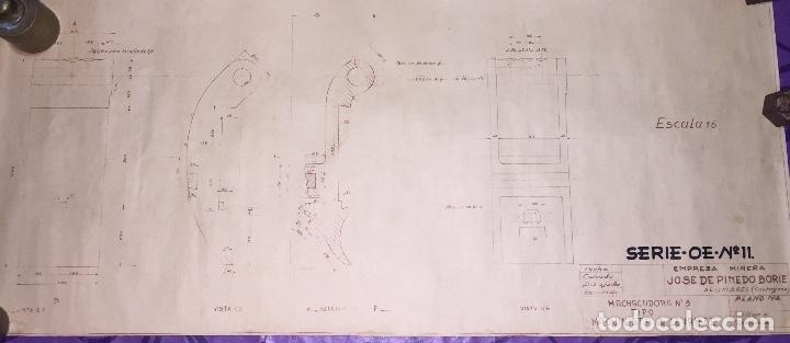 LA UNION- ALUMBRES- CARTAGENA- MURCIA- MINERIA- PLANO MACHACADORA (Coleccionismo en Papel - Varios)