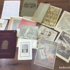 Coleccionismo Papel Varios: LOTE DE PAPEL ANTIGUO DE MANRESA AÑOS 40/50/60. Lote 138605845