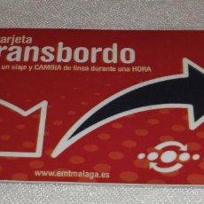 Outros artigos de papel: TARJETA DE TRANSBORDO DE MALAGA. Lote 138721934