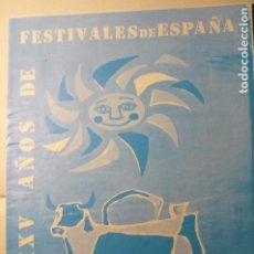 Coleccionismo Papel Varios: PROGRAMA 8 PAG.CI.NACIONAL TEATRO-JULIO CESAR XXV AÑOS FESTIVALES ESPAÑA-. Lote 138833966