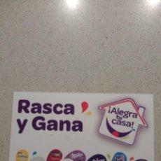Coleccionismo Papel Varios: VALE «RASCA Y GANA». Lote 139082274