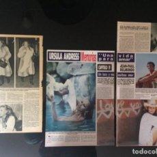 Coleccionismo Papel Varios: LOTE PRENSA RECORTES URSULA ANDRESS CLIPPINGS. Lote 139082862