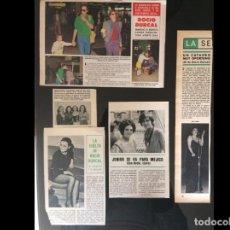 Coleccionismo Papel Varios: LOTE PRENSA ROCIO DURCAL RECORTES CLIPPINGS. Lote 139084570