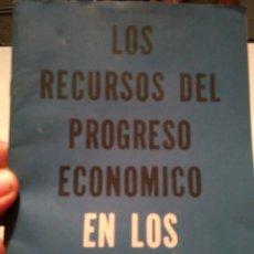 Coleccionismo Papel Varios: LOS RECURSOS DEL PROGRESO ECONOMICO EN LOS ESTADOS UNIDOS. JOHN W. KENDRICK. U.S.I.S.. Lote 139220122