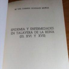 Coleccionismo Papel Varios: TALAVERA DE LA REINA. Mª DEL CARMEN GONZÁLEZ MUÑOZ (SEPARATA ESTUDIOS C.S.I.C). Lote 139308946
