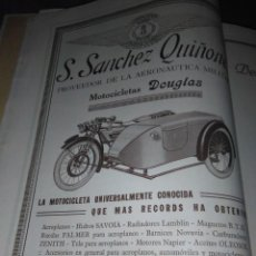 Coleccionismo Papel Varios: S. SANCHEZ QUIÑONES PROVEEDOR DE LA AERONAUTICA MILITAR MOTOCICLETAS DOUGLAS 1926. Lote 139309806