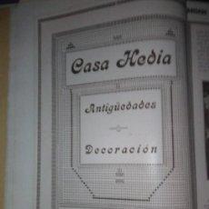 Coleccionismo Papel Varios: CASA HEREDIA ANTIGÜEDADES DECORACION 1926. Lote 139315438