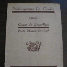 Coleccionismo Papel Varios: GRANOLLERS - FESTA MAJOR ANY 1929 - MOLTA PUBLICITAT I FOTOGRAFIES - VEURE FOTOS (V-15.285). Lote 139336602