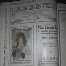 Coleccionismo Papel Varios: ANIS MI NENA J. GARCIA JIMENEZ CONSTANTINA SEVILLA ELIAS SANCHEZ VILLEN FINO PAQUITO CABRA CORDOBA . Lote 139553778