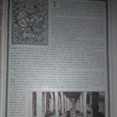 Coleccionismo Papel Varios: DOMECQ JEREZ MONOGRAFICO DE 1926 BODEGA LA TRIBUNA CUEVAS ALMACENADO EMBOTELLADO . Lote 139555202