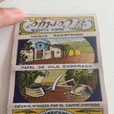 Coleccionismo Papel Varios: LIBRITO DE PAPEL DE FUMAR EL CORTIJO. Lote 139557070