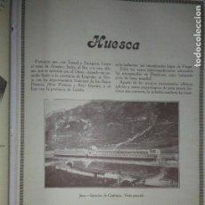 Coleccionismo Papel Varios: HUESCA JACA ESTACION DE CANFRANC JACA LA CIUDADELA 1926. Lote 139632426
