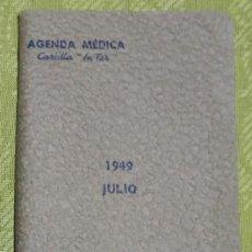 Coleccionismo Papel Varios: LIBRETA PUBLICITARIA AGENDA MÉDICA L C - CARULLA IN-TER - BARCELONA 1949. Lote 139685830