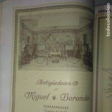 Coleccionismo Papel Varios: MADRID C/ MAGDALENA ANTIGÜEDADES MIGUEL BORONDO 1926. Lote 139728218
