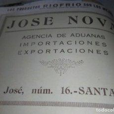 Coleccionismo Papel Varios: JOSE NOVA SANTANDER 1926. Lote 139881746