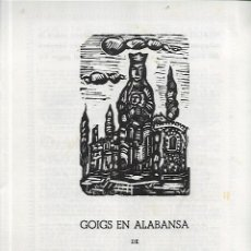 Outros artigos de papel: 148 - GOIGS EN ALABANSA DE NTRA. SRA- DEL VIVER -ARGENTONA 1957 ( DÍPTIC ). Lote 140342038