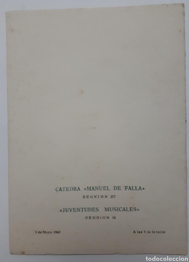 Coleccionismo Papel Varios: Programa de concierto de P. Javier Garcia Romano. Organista. 1962 - Foto 2 - 140446986