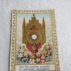 Coleccionismo Papel Varios: M69 TARJETA RELIGIOSA RECORDATORIO 1907. Lote 140448038