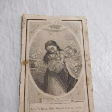 Coleccionismo Papel Varios: M69 TARJETA RELIGIOSA RECORDATORIO XIX. Lote 140448286