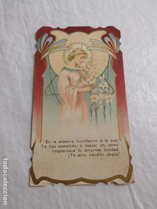 M69 TARJETA RELIGIOSA RECORDATORIO 1915. ART DECO. (Coleccionismo en Papel - Varios)