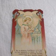 Coleccionismo Papel Varios: M69 TARJETA RELIGIOSA RECORDATORIO 1915. ART DECO.. Lote 140449234